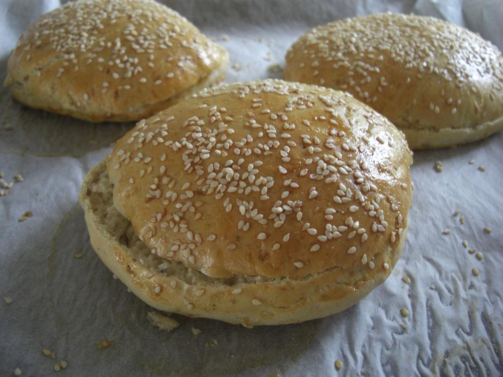 Grove hamburgerbrød tørrgjær